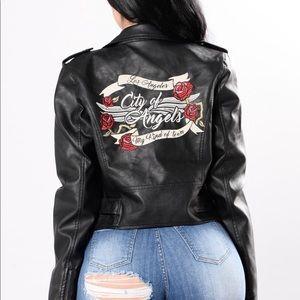 Fashion Nova   City Of Angels Leather Jacket